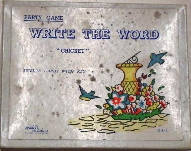 "Write the Word ""Cricket"""