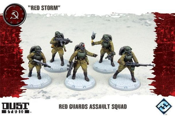 "Dust Tactics: Red Guards Assault Squad – ""Red Storm"""