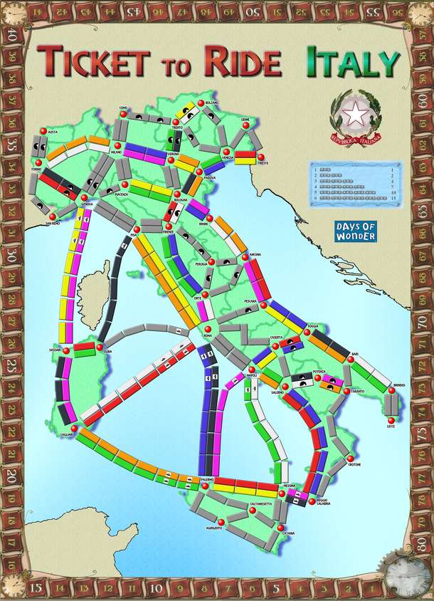 Italy (fan expansion for Ticket to Ride)