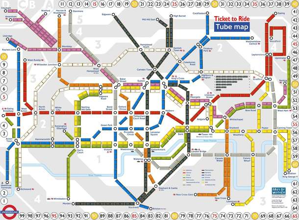 London Underground (fan expansion to Ticket to Ride)