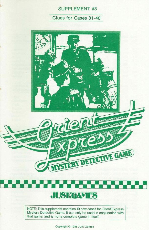 Orient Express Supplement #3