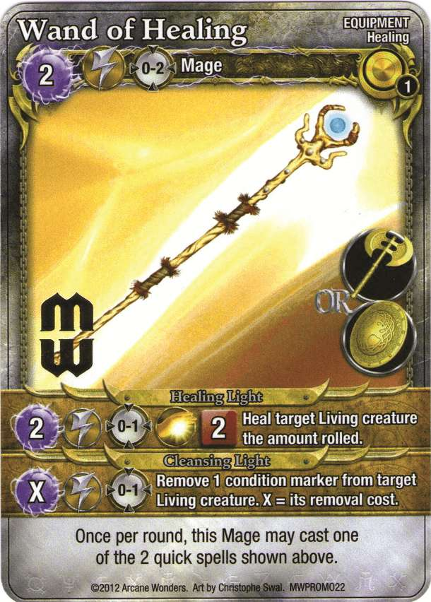 Mage Wars: Wand of Healing Promo Card
