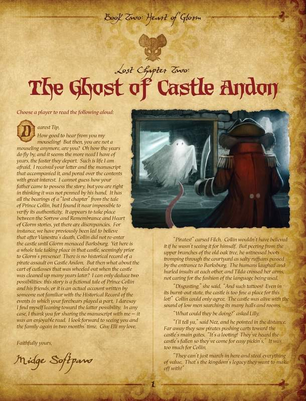 Mice and Mystics: Lost Chapter - The Ghost of Castle Andon