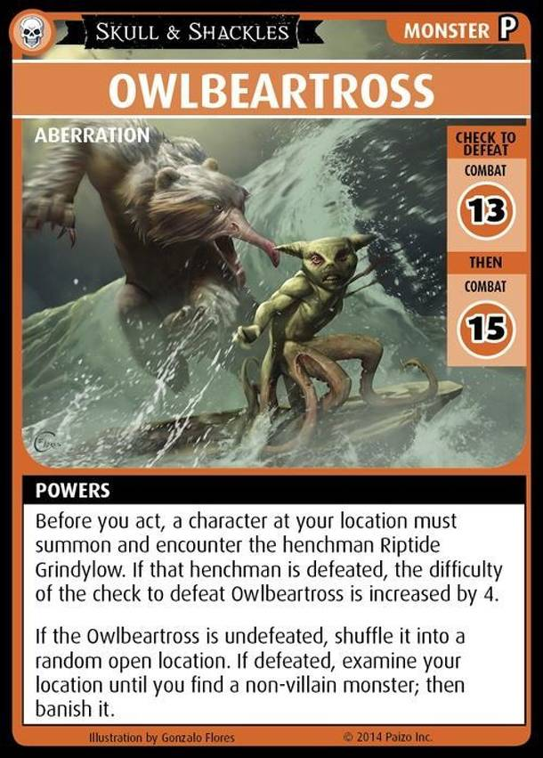 "Pathfinder Adventure Card Game: Skull & Shackles – ""Owlbeartross"" Promo Card"