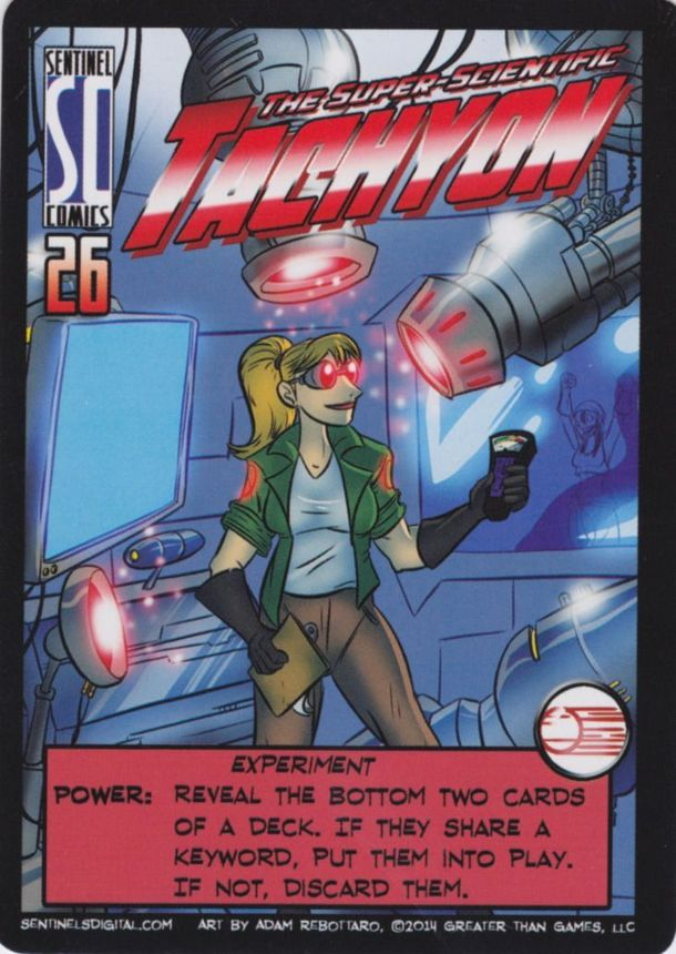 Sentinels of the Multiverse: The Super Scientific Tachyon Promo Card