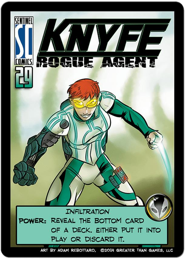 Sentinels of the Multiverse: KNYFE Rogue Agent Promo Card