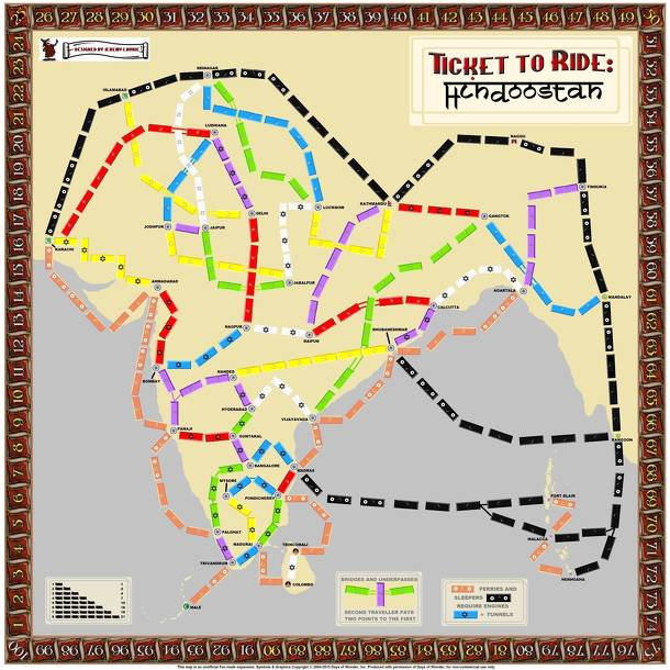 India (fan expansion to Ticket to Ride)