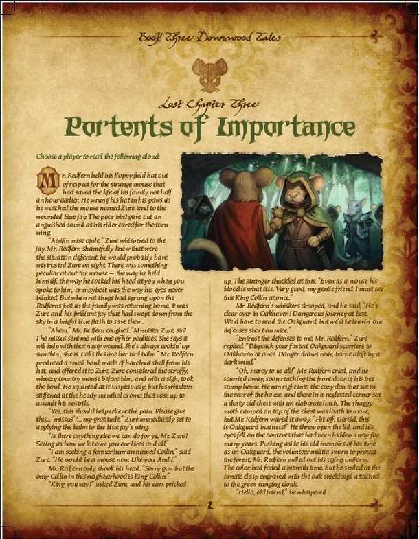 Mice and Mystics: Lost Chapter - Portents of Importance