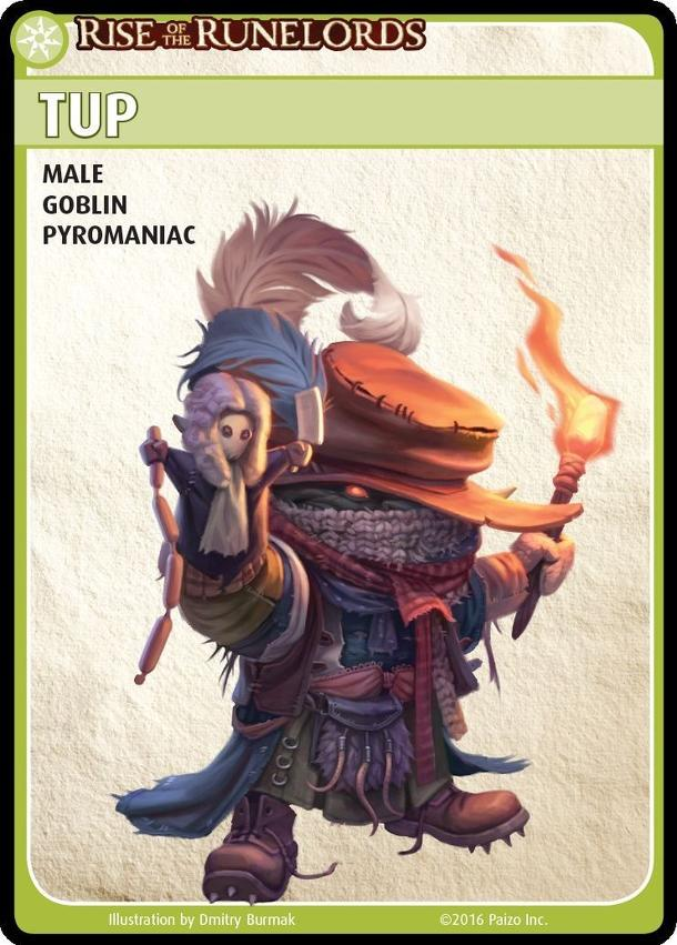 "Pathfinder Adventure Card Game: Rise of the Runelords – ""Tup"" Promo Character Card Set"