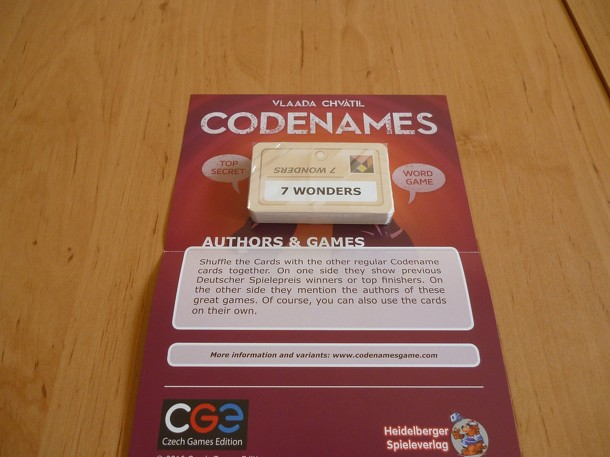 Codenames: Authors & Games