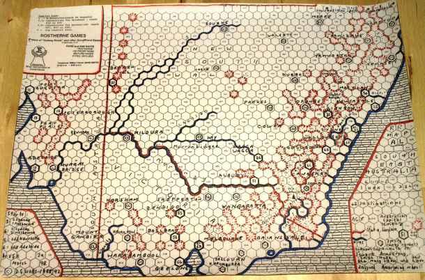 Map South East Australia.Railway Rivals Map Al South East Australia Tarsasjatek Kiegeszito