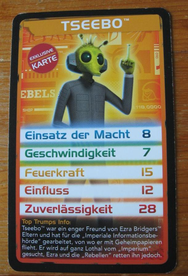 Top Trumps Star Wars: Tseebo