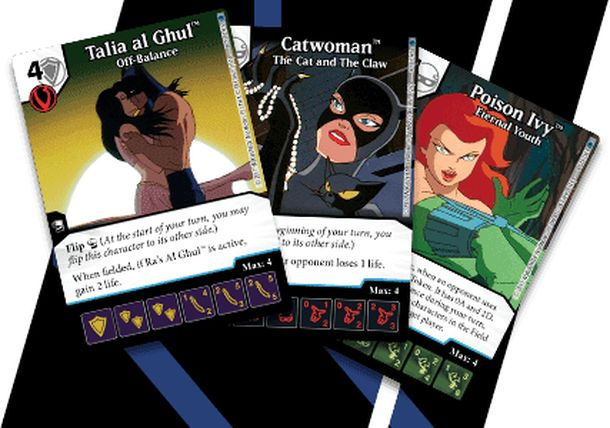 DC Comics Dice Masters: Batman the Animated Series Sirens Promo Cards