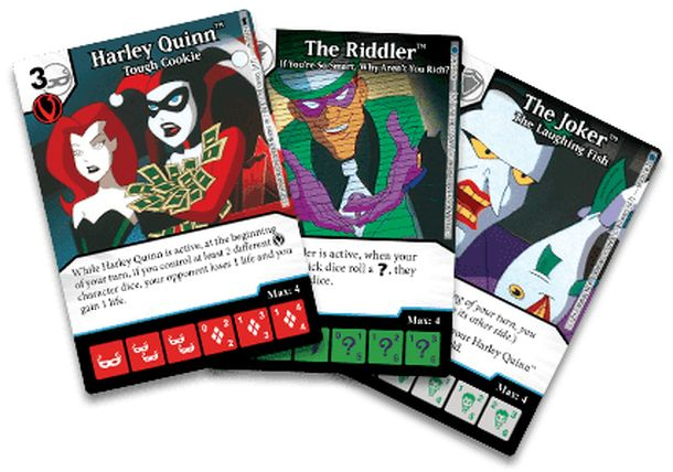 DC Comics Dice Masters: Batman the Animated Series Villains Promo Cards