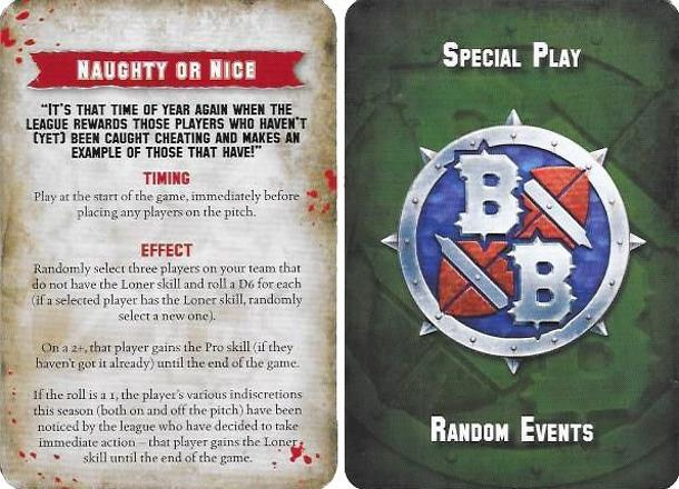 Blood Bowl (2016 edition): Naughty or Nice Special Play card