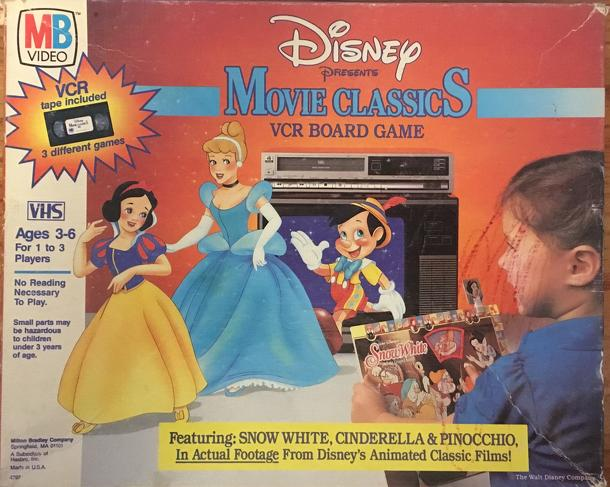 Disney Presents Movie Classics VCR Board Game