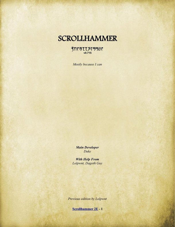 Scrollhammer 2nd Edition