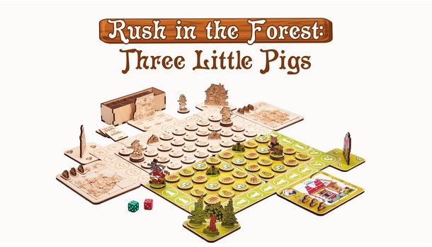 Rush in the Forest: Three Little Pigs
