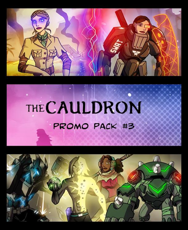 The Cauldron: Promo Pack #3 (fan expansion to Sentinels of the Multiverse)