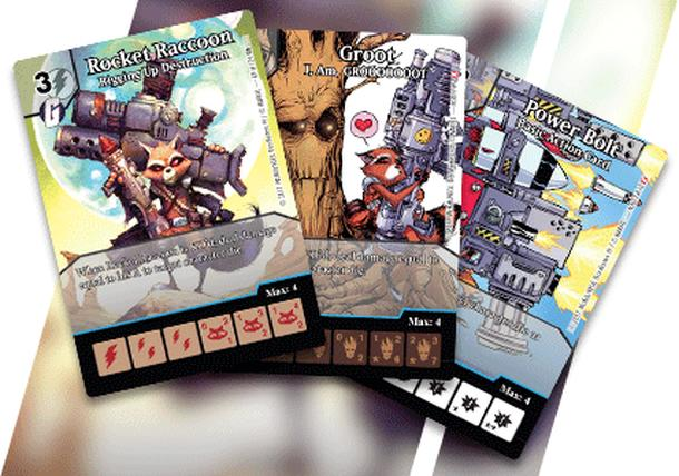Marvel Dice Masters: Rocket and Groot Promo Cards