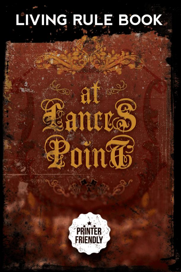 At Lances Point: playtest rules