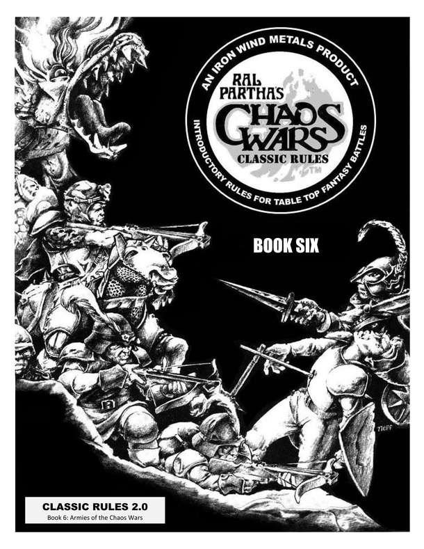 Ral Partha's Chaos Wars: Classic Rules – Book Six: Armies of the Chaos Wars