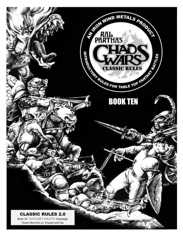 Ral Partha's Chaos Wars: Classic Rules – Book Ten: Nature's Wrath Campaign – Chaos Warriors vs. Dryads and Fae