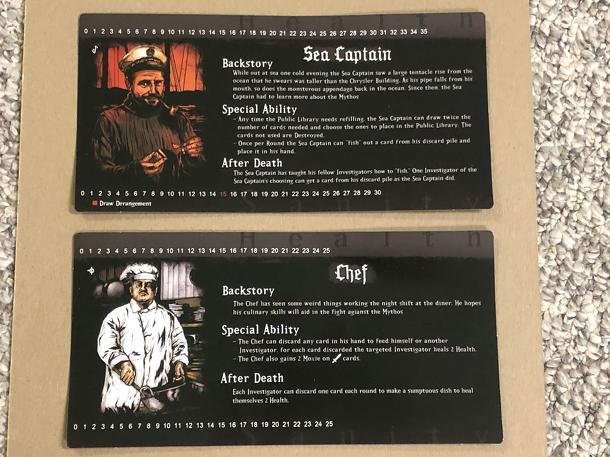Cthulhu: A Deck Building Game – Chef & Sea Captain promos