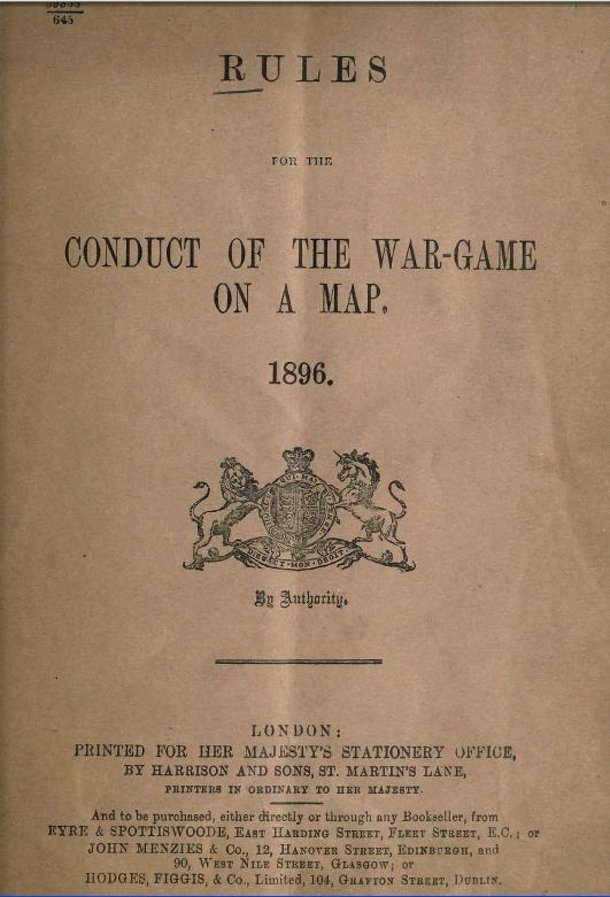 Rules for the conduct of the war-game on a map