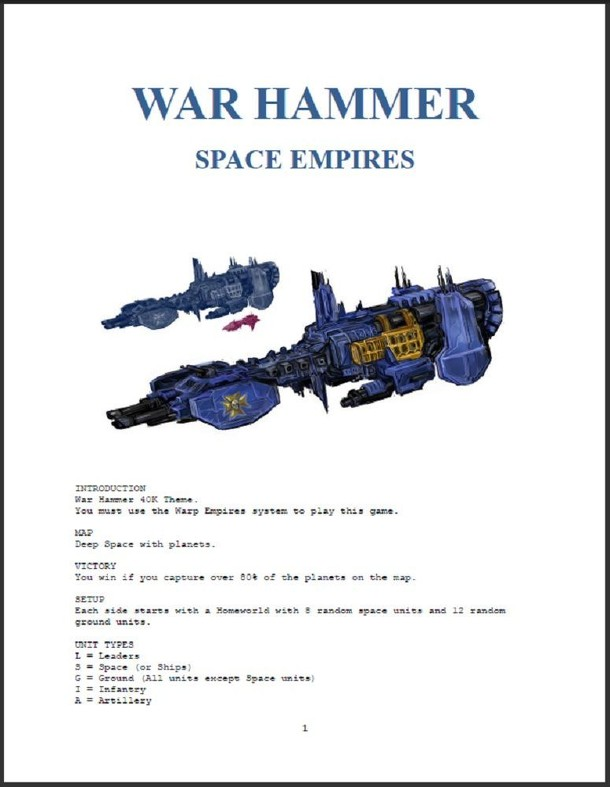 War Hammer Space Empires