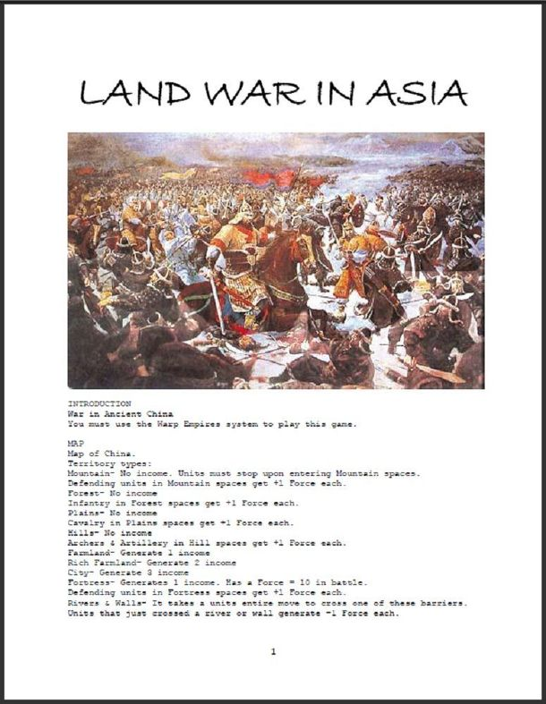Land War in Asia