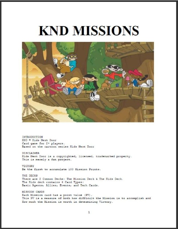 KND Missions