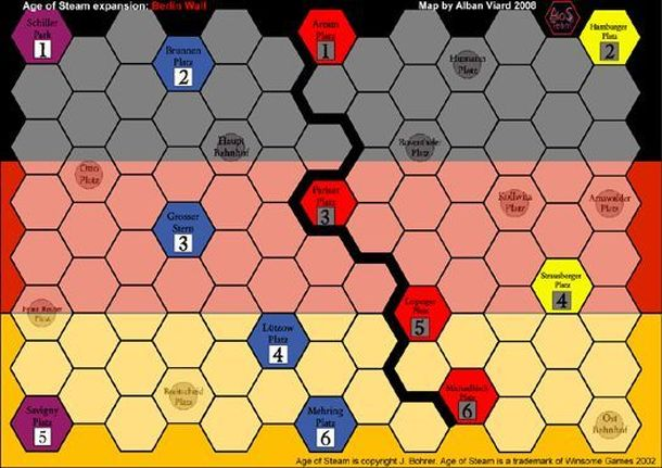 Age of Steam Expansion: Washington DC and The Berlin Wall